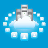 Mise en réseau de nuage Photo libre de droits