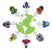 Mise en réseau de personnes et concept sociaux de réseau informatique Photos libres de droits