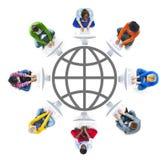 Mise en réseau de personnes et concepts sociaux de réseau informatique Photos libres de droits