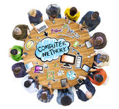Mise en réseau de personnes et concepts sociaux de réseau informatique Photo stock