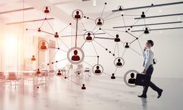 Mise en réseau et concept social de communication en tant que point efficace f Photos libres de droits