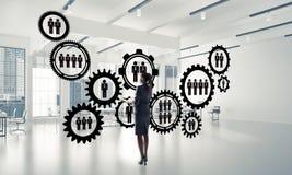 Mise en réseau et concept social de communication en tant que point efficace f Image stock