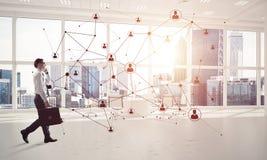 Mise en réseau et concept social de communication en tant que point efficace f Photo stock