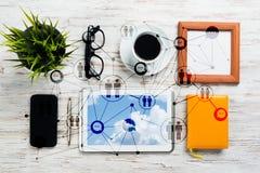 Mise en réseau et concepts sociaux de communication images stock