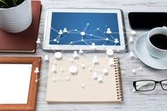 Mise en réseau et concepts sociaux de communication photo libre de droits