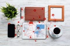 Mise en réseau et concepts sociaux de communication image libre de droits