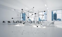 Mise en réseau et connexion sans fil comme concept pour des affaires modernes efficaces Image stock
