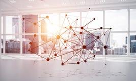 Mise en réseau et connexion sans fil comme concept pour des affaires modernes efficaces Images libres de droits