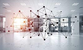 Mise en réseau et connexion sans fil comme concept pour des affaires modernes efficaces Photographie stock