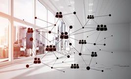 Mise en réseau et connexion sans fil comme concept pour des affaires modernes efficaces Images stock