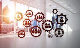 Mise en réseau et connexion sans fil comme concept pour des affaires modernes efficaces Image libre de droits