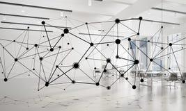 Mise en réseau et connexion sans fil comme concept pour des affaires modernes efficaces Photos libres de droits