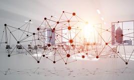 Mise en réseau et connexion sans fil comme concept pour des affaires modernes efficaces Photos stock