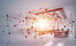 Mise en réseau et connexion sans fil comme concept pour des affaires modernes efficaces Photo stock