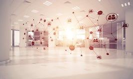 Mise en réseau et connexion sans fil comme concept pour le mode adressage effectif Image libre de droits