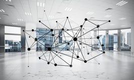 Mise en réseau et connexion sans fil comme concept pour le mode adressage effectif Photo stock