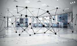 Mise en réseau et connexion sans fil comme concept pour le mode adressage effectif Photo libre de droits