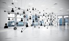 Mise en réseau et connexion sans fil comme concept pour le mode adressage effectif Photographie stock libre de droits