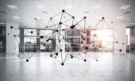 Mise en réseau et connexion sans fil comme concept pour le mode adressage effectif Photos stock