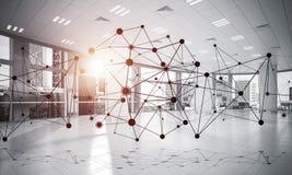 Mise en réseau et connexion sans fil comme concept pour le mode adressage effectif Images stock