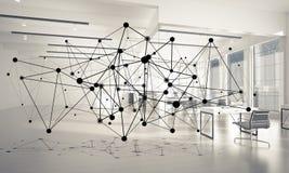 Mise en réseau et connexion sans fil comme concept pour le mode adressage effectif Images libres de droits