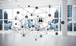 Mise en réseau et connexion sans fil comme concept pour le mode adressage effectif Photographie stock