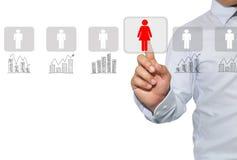 Mise en réseau et recrutement dans les ressources humaines pour l'exploitation de données, Co Images stock
