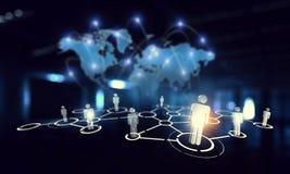 Mise en réseau et technologies modernes Media mélangé images libres de droits