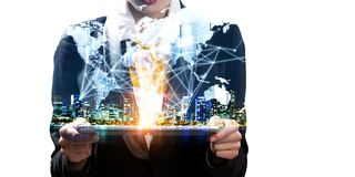 Mise en réseau globale comme affaires image stock