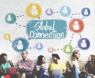 Mise en réseau globale Conce d'interconnexion de communication de connexion Photos stock