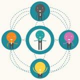 Mise en réseau sociale conceptuelle, Photo stock