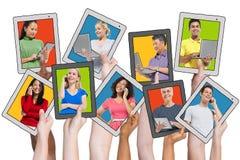 Mise en réseau sociale de personnes et concepts relatifs Images stock