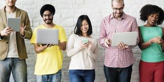 Mise en réseau Team Concept de technologie de connexion de Digital Photo stock