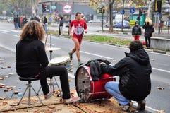 Mise en tambour et sport, marathon 2010 de Turin Photos stock