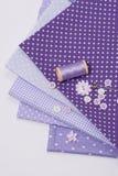 Mise sur pied des accessoires de passe-temps Kit de couture de métier Images stock