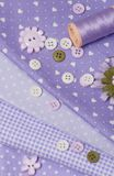 Mise sur pied des accessoires de passe-temps Kit de couture de métier Image stock