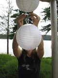 Mise vers le haut des lanternes Photo libre de droits