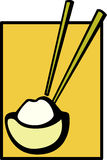 misek chińskich pałeczek ryżu ilustracja wektor