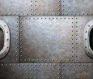 Miserabeler abstrakter Hintergrund des Dampfs Metall Stockfotos