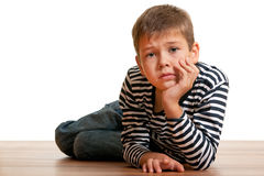 Miserable kid Royalty Free Stock Photo