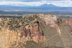 Miseria Ridge - Smith Rock State Park - Terrebonne, Oregon foto de archivo libre de regalías