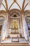 Misericordia教会法坛 晚新生建筑学的16世纪霍尔教会 免版税库存图片