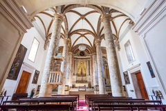 Misericordia church Nave. 16th century Hall-Church in late Renaissance Architecture. Stock Photos