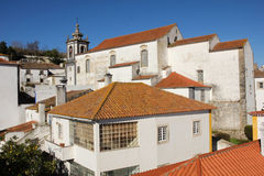 Misericordia Church and whitewashed houses. Obidos. Portugal Royalty Free Stock Image