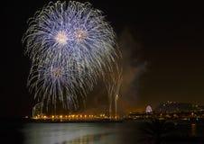 Misericordia 2013 de los fuegos artificiales en Barcelona Imagen de archivo libre de regalías