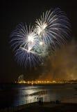 Misericordia 2013 de los fuegos artificiales en Barcelona Fotografía de archivo