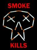 Mises à mort de fumée - affiche. Image libre de droits