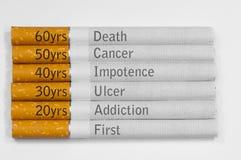 Mises à mort de tabagisme Images stock