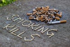 Mises à mort de tabagisme Photos stock