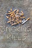 Mises à mort de tabagisme Images libres de droits